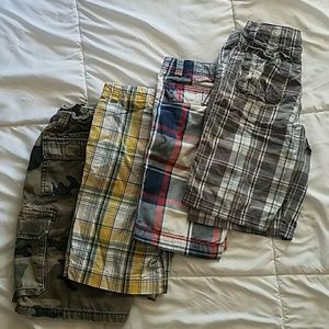 Lot of 4 pairs of Boys Cargo Shorts Boys Size 10
